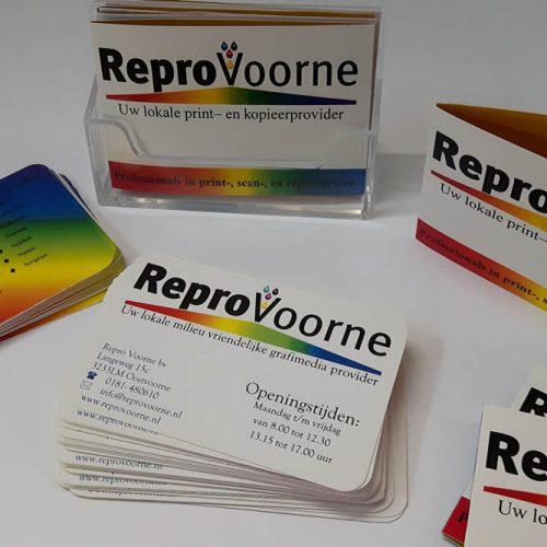 Repro Voorne visitekaartjes