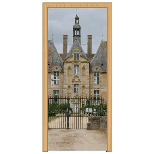 deursticker kasteel met toegangshek - DS4002