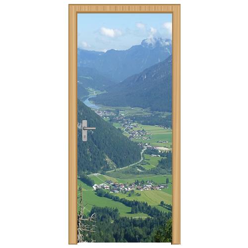 deursticker berglandschap 1- DS3001