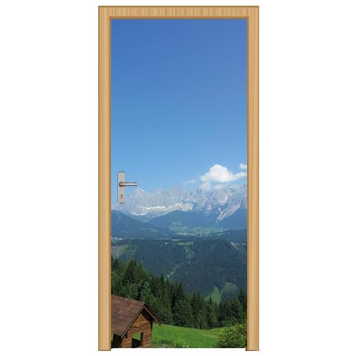 deursticker berglandschap 2 - DS3002