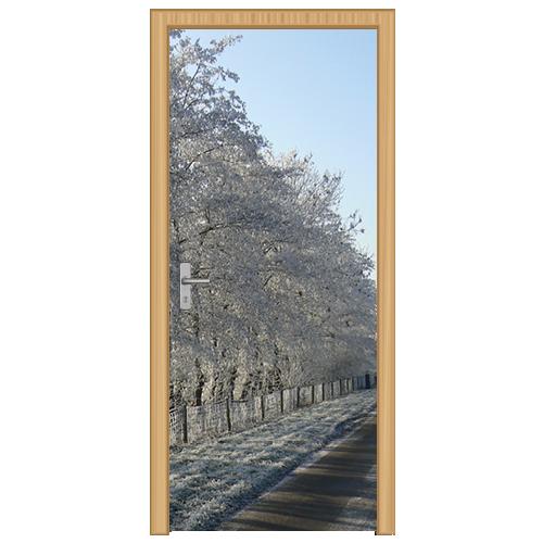 deursticker wintertafereel - DS2005