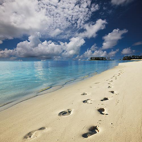 canvas - voetsporen in zand - CV9002