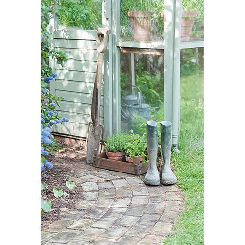 Repro Voorne tuinposter tuinlaarzen