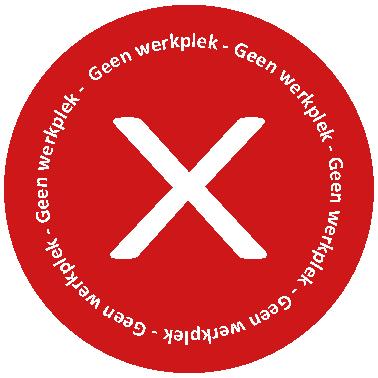 Repro Voorne geen werkplek sticker