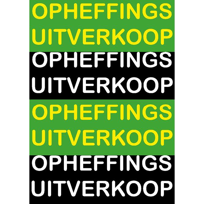 poster opheffings uitverkoop WPO001 groen-zwart