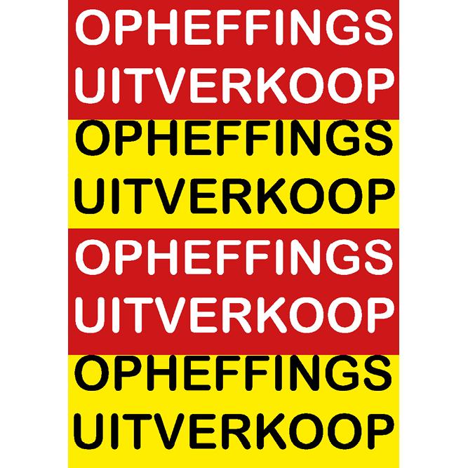 poster opheffings uitverkoop WPO001 rood-geel