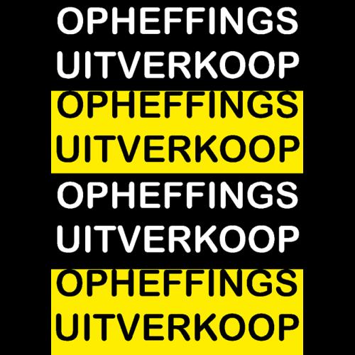 poster opheffings uitverkoop WPO001 zwart-geel