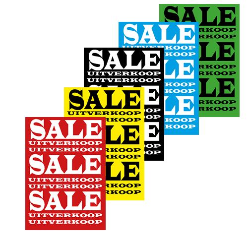 poster sale/uitverkoop WPU001 assorti