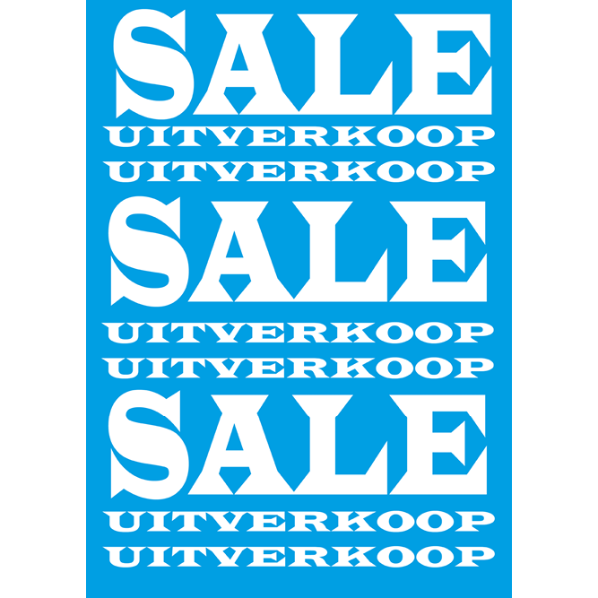 poster sale/uitverkoop WPU001 blauw