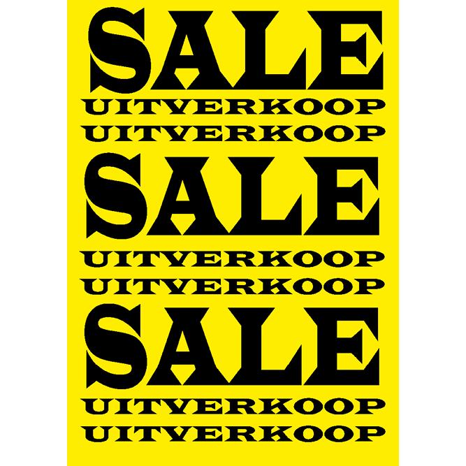 poster sale/uitverkoop WPU001 geel