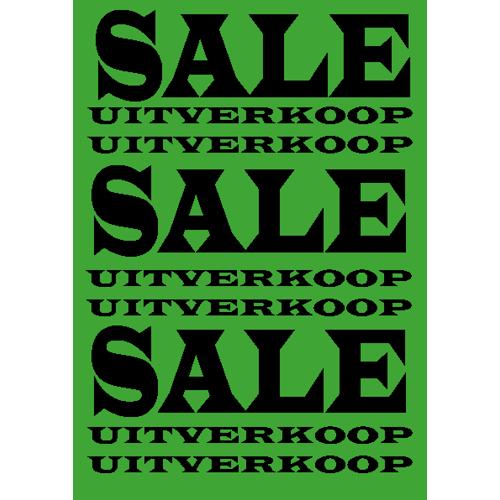 poster sale/uitverkoop WPU001 groen