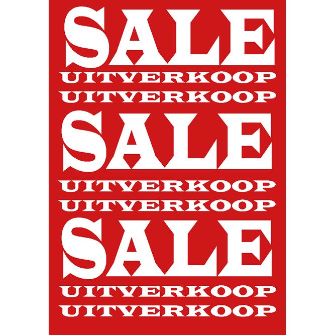 poster sale/uitverkoop WPU001 rood