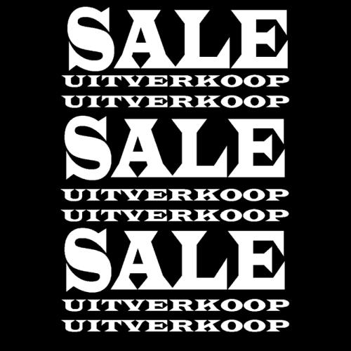 poster sale/uitverkoop WPU001 zwart-wit
