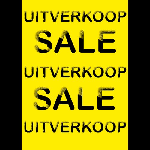 poster uitverkoop WPU002 geel