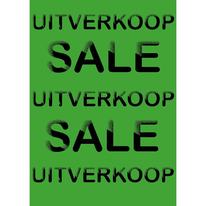 poster uitverkoop WPU002 groen