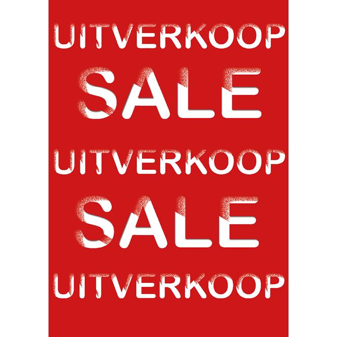 poster uitverkoop WPU002 rood
