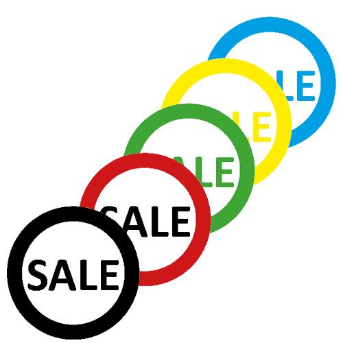 sale stickers WSU001 assorti