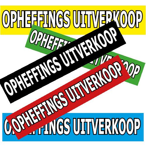 banner opheffings uitverkoop WPO002 assorti