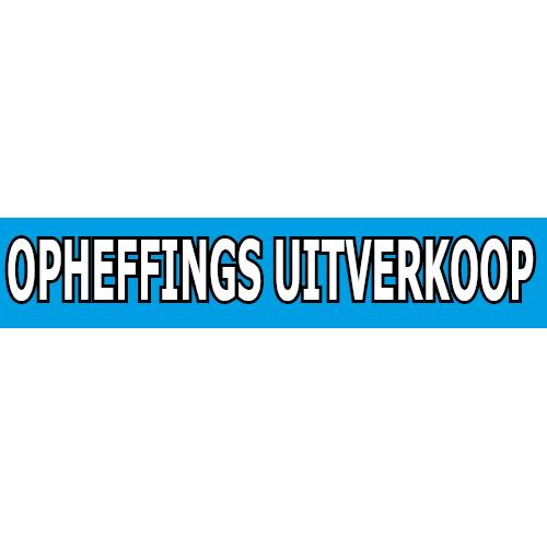 banner opheffings uitverkoop WPO002 blauw