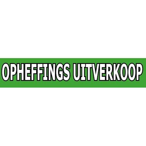 banner opheffings uitverkoop WPO002 groen