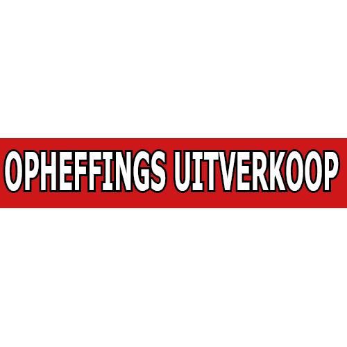 banner opheffings uitverkoop WPO002 rood