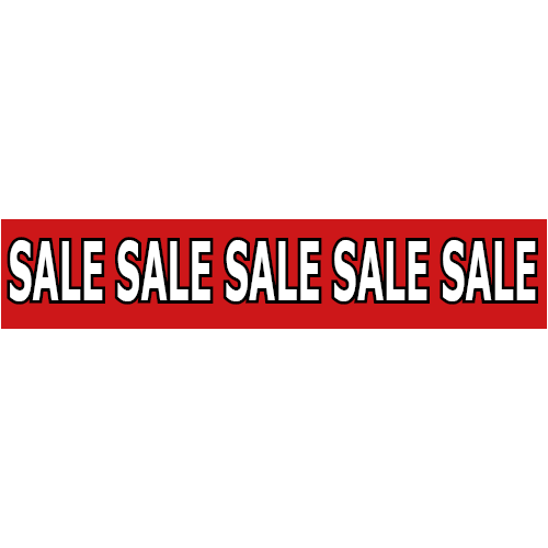 banner sale WP003 rood