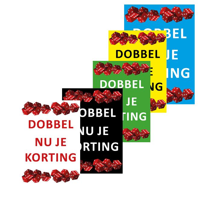 poster dobbel korting WPU007 assorti