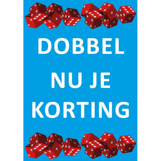 poster dobbel korting WPU007 blauw