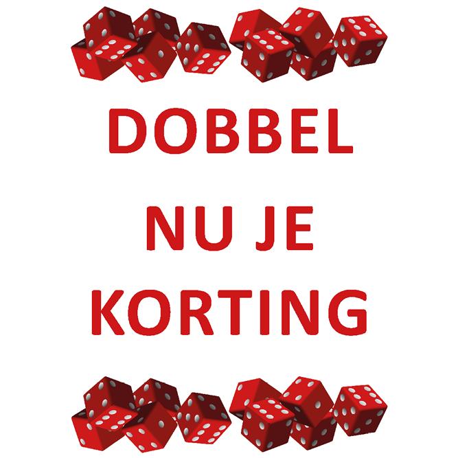 poster dobbel korting WPU007 wit