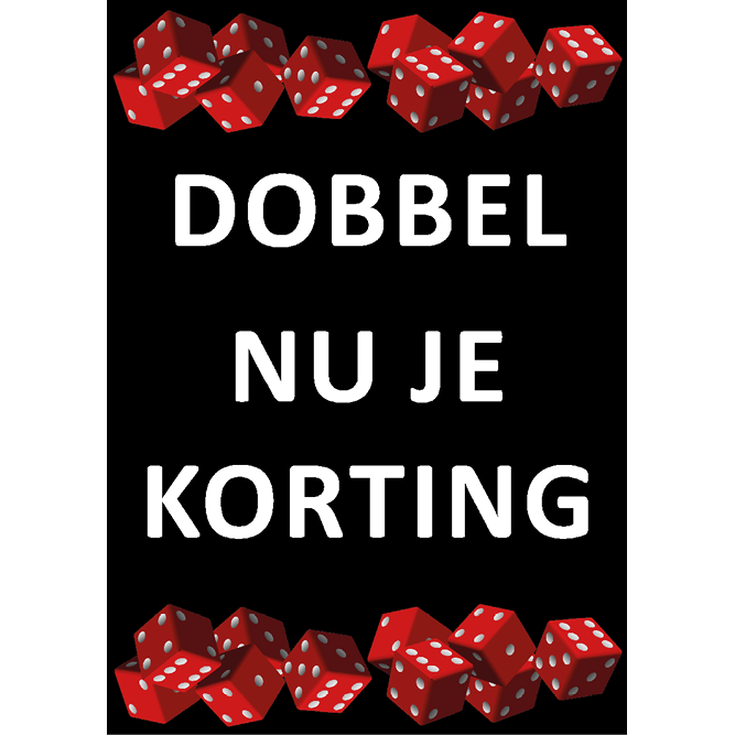 poster dobbel korting WPU007 zwart
