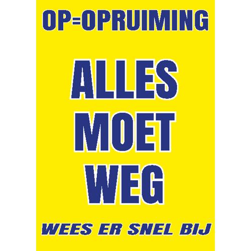 opruiming alles moet weg blauw-geel WPU004