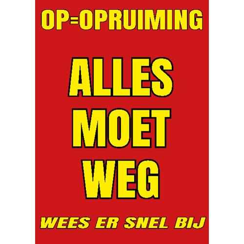 opruiming alles moet weg geel-rood WPU004