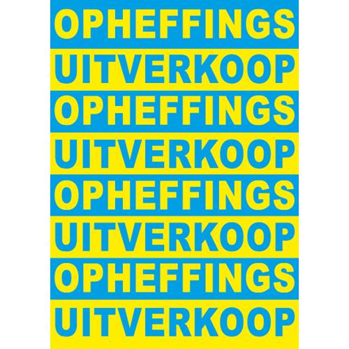 poster opheffings uitverkoop WPO002 blauw-geel