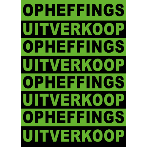 poster opheffings uitverkoop WPO002 groen-zwart