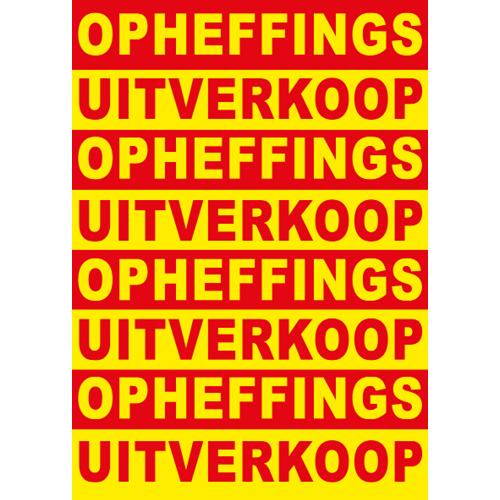 poster opheffings uitverkoop WPO002 rood-geel