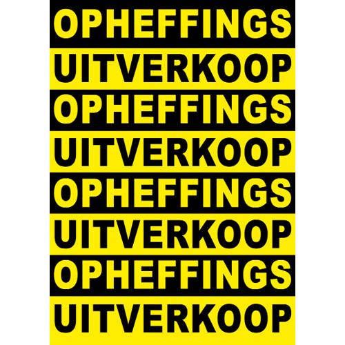 poster opheffings uitverkoop WPO002 zwart-geel