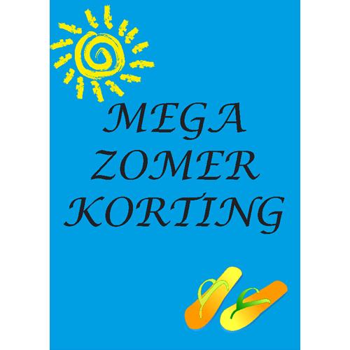 Mega Zomer korting WPZ001 blauw