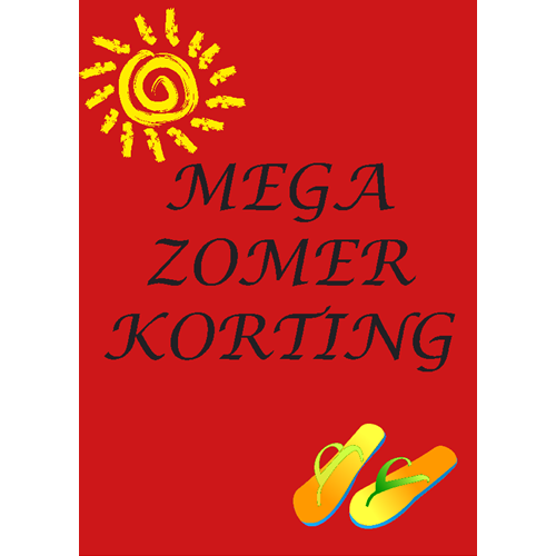 Mega Zomer korting WPZ001 rood