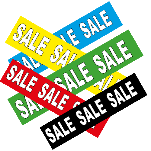 Sale banner sticker WSU004 set