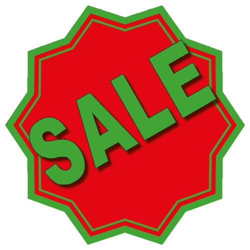 Sale sticker 10-ster WSU003 rood-groen