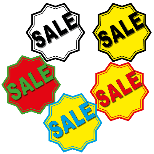 Sale sticker 10-ster WSU003 set