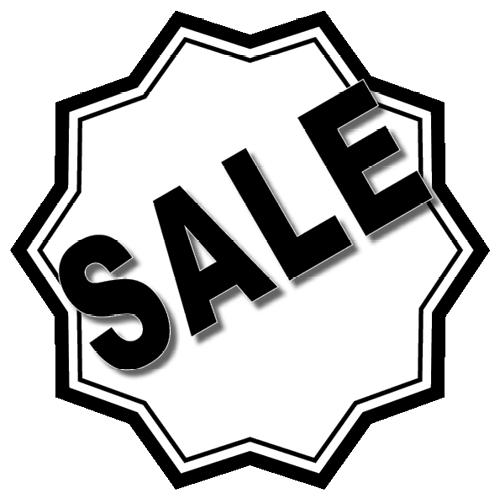 Sale sticker 10-ster WSU003 wit-zwart