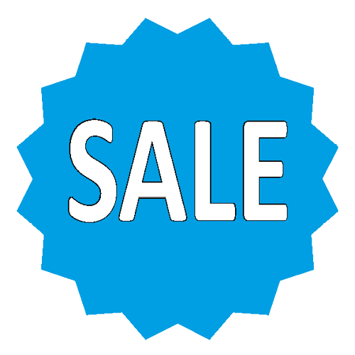 Sale sticker 16-ster WSU002 blauw