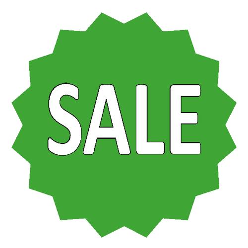 Sale sticker 16-ster WSU002 groen