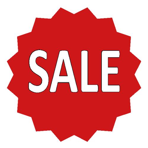Sale sticker 16-ster WSU002 rood