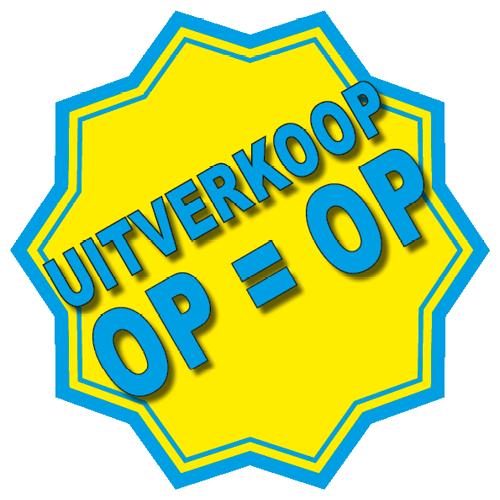 Uitverkoop sticker 10-ster WSU005 geel-blauw