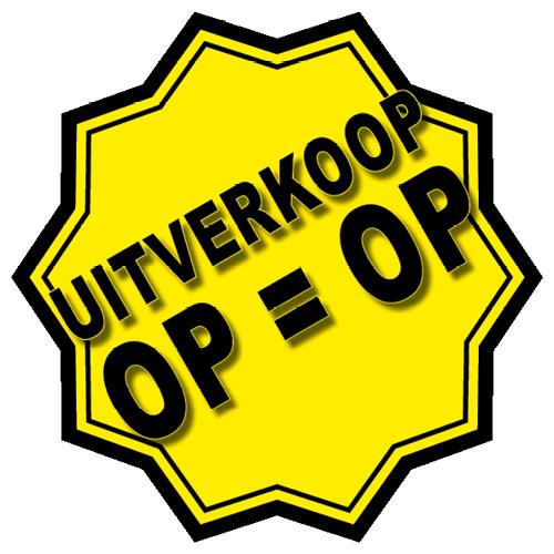 Uitverkoop sticker 10-ster WSU005 geel-zwart