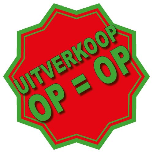 Uitverkoop sticker 10-ster WSU005 rood-groen