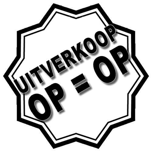 Uitverkoop sticker 10-ster WSU005 wit-zwart