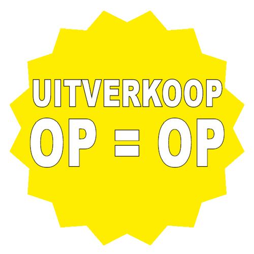 Uitverkoop sticker 16-ster geel